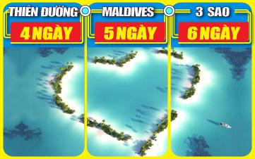 DU LỊCH MALDIVES 3 SAO