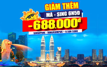 DU LỊCH MALAYSIA + SINGAPORE CAO CẤP 5* 6N5Đ