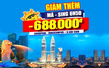 DU LỊCH SINGAPORE - MALAYSIA - SINGAPORE 6N5Đ
