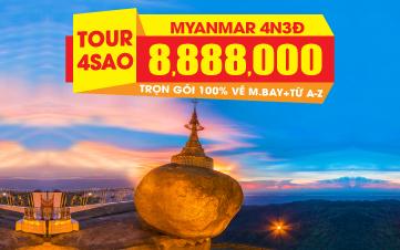 Du lịch Myanmar Myanmar | Golden Rock 4N3Đ