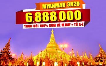 DU LỊCH MYANMAR 3N2Đ cuối tuần
