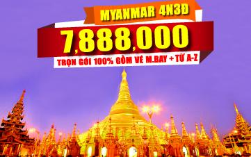 DU LỊCH MYANMAR 4N3D