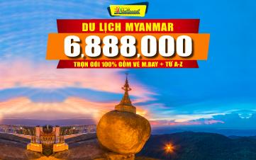 DU LỊCH MYANMAR 3N2Đ