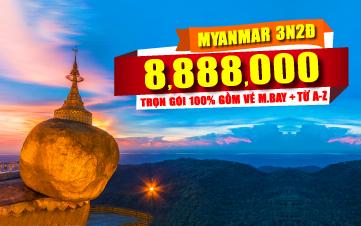 DU LỊCH MYANMAR - GOLDEN ROCK 3N2Đ cuối tuần