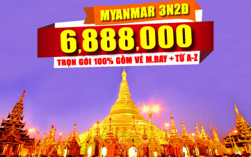 Du lịch Myanmar - YANGOON CITY 3N2Đ