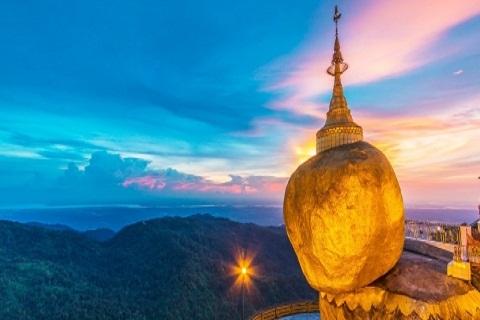 Kyaikhtiyo - Chùa Hòn Đá Vàng độc đáo giữa Myanmar
