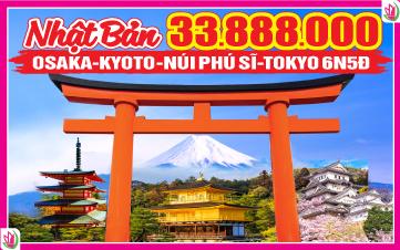Du lịch Nhật Bản 6Ngày 5Đêm 4Sao Osaka | Kyoto | Núi Phú Sĩ | Tokyo