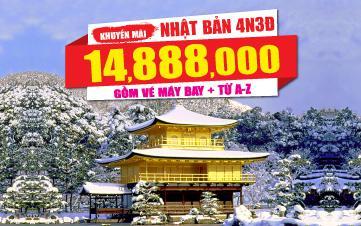 Du lịch Nhật Bản 4Sao 14tr888 Tham quan Osaka | Kyoto | Kobe | Mua 1 vé 18tr888 tặng mua 1 vé giá chỉ 14tr888