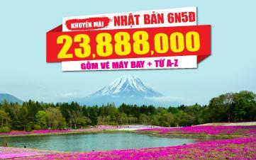 Du lịch Nhật Bản 6Ngày 5Đêm 4Sao 23tr888 Osaka | Kyoto | Núi Phú Sĩ | Tokyo