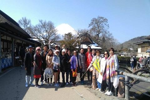 Ký sự du lịch Nhật Bản 30/3/2017 : Vẻ đẹp ngôi làng cổ Oshino Hakkai