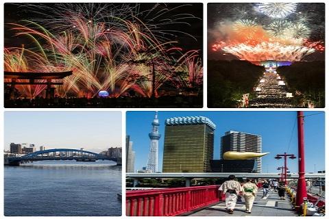 Lễ hội pháo hoa lâu đời nhất thế giới Sumida Hanabi