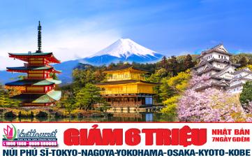 Du lịch Nhật Bản 7N6Đ khám phá cung đường vàng nổi tiếng thế giới