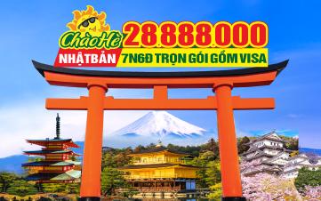 Tour du lịch hè Nhật Bản OSAKA - KOBE - KYOTO - NÚI PHÚ SỸ - YAMANASHI - TOKYO/YOKOHAMA - NAGOYA - NARA 6N/7ngày