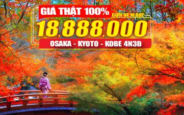 Du Lịch Nhật Bản | Osaka | Kyoto | Kobe 4N3Đ Khởi hành từ Đà Nẵng