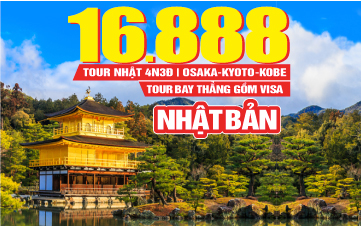 DU LỊCH NHẬT BẢN Osaka | Wakayama | Kyoto | 4N3Đ Bay thẳng từ HCM