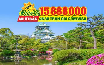 Tour du Lịch hè Nhật Bản Osaka | Kyoto | Kobe |4N3Đ