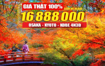 Nhật Bản 4Sao Osaka | Kyoto | Kobe - Đồng Thương Hiệu GROUPTOURVN