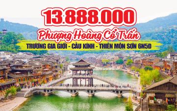 Du Lịch Trương Gia Giới | Phượng Hoàng Cổ Trấn | Tặng Thêm Tour Mua Sắm Quảng Châu 6N5Đ