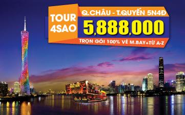 Du lịch Trung Hoa Quảng Châu - Thẩm Quyến 4Sao trọn gói 5tr888 Quàng Châu | Thẩm Quyến 5N4Đ