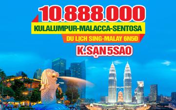 Tour du lịch Singapore - Malaysia 5sao 6N5Đ