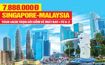Du lịch Malaysia - Singapore 4Sao 7tr888 Kualalumpur | Malacca | Joho City 4N3Đ