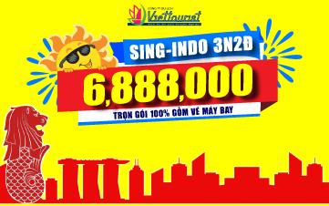 SINGAPORE + INDONESIA 3NGÀY 2ĐÊM