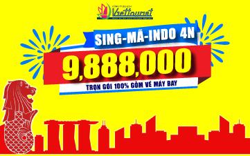 DU LỊCH SINGAPORE+3QUỐC GIA+MALAYSIA+INDONESIA 4N3Đ