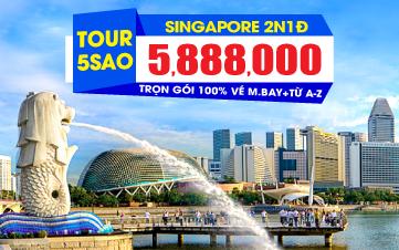 Du lịch singapore 2N1Đ K.sạn 5sao