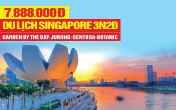 Tour Du Lịch Singapore 4Sao   Gardens by the Bay   Sentosa   Botanic   3N2Đ