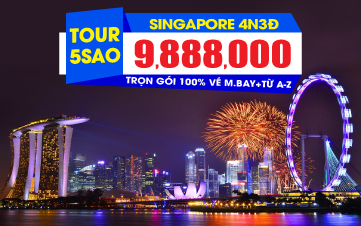 Du Lịch Singapore 4sao 4N3Đ Khởi hành từ Đà Nẵng