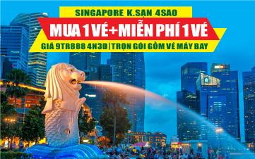 Du Lịch Singapore 4Sao Botanic Gardens | Jurong | Sentosa 4N3Đ ĐĂNG KÝ TOUR TRẢ TRƯỚC 1 TRIỆU