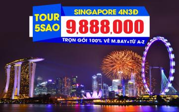 Du Lịch Singapore 4Sao 9tr888 Botanic Gardens | Jurong | Sentosa 4N3Đ