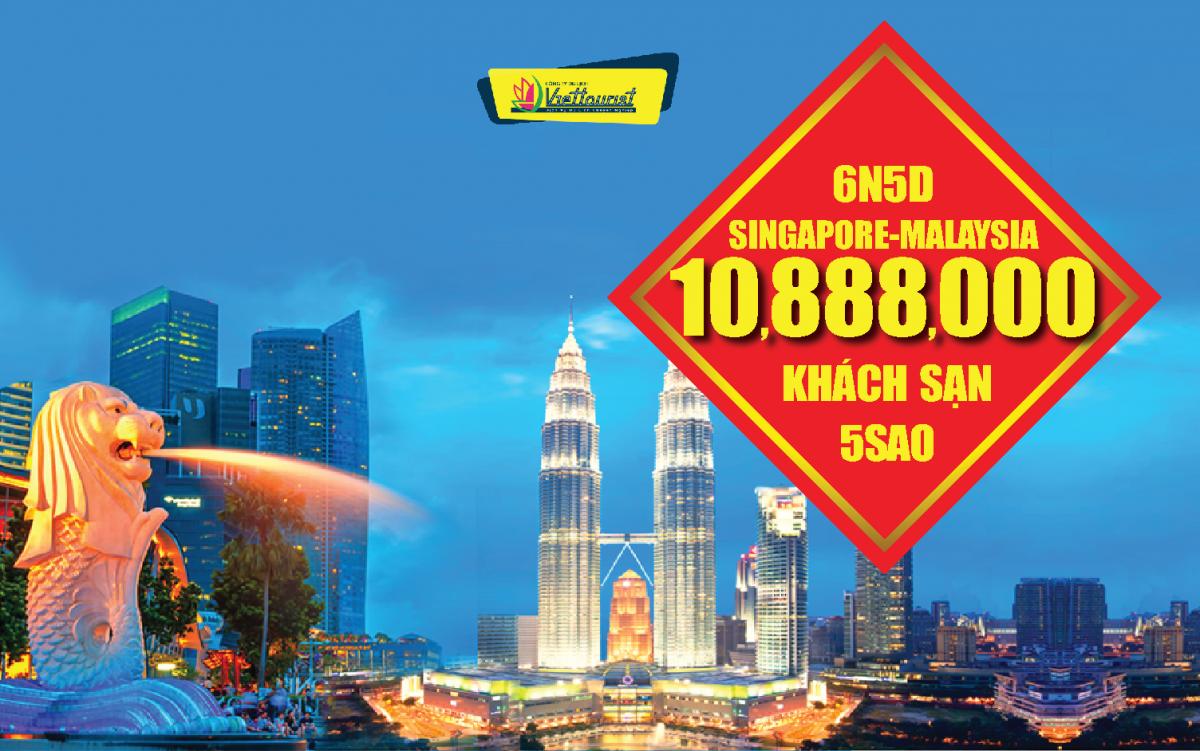 DU LỊCH SINGAPORE + MALAYSIA CAO CẤP 5* 6N5Đ