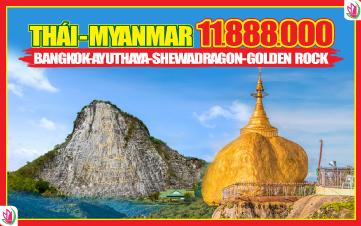 Bangkok-Pattaya-Yangon-Shewadragon-Bago-Golden Rock 5N4Đ
