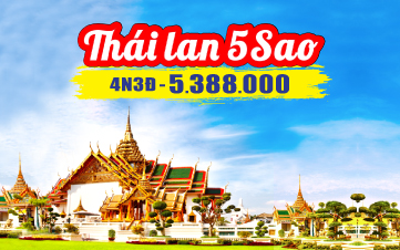 Du Lịch Thái Lan 5Sao 2tr888 Mua 2 tặng 1 Bangkok | Pattaya 4N3Đ