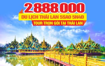 Du Lịch THÁI LAN 5Sao thắng cảnh Siam cổ đại - Khởi Hành Hàng Ngày Trên Toàn Quốc