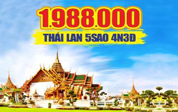 Du Lịch Thái Lan 5Sao 4N3Đ 1tr988 từ Hà Nội