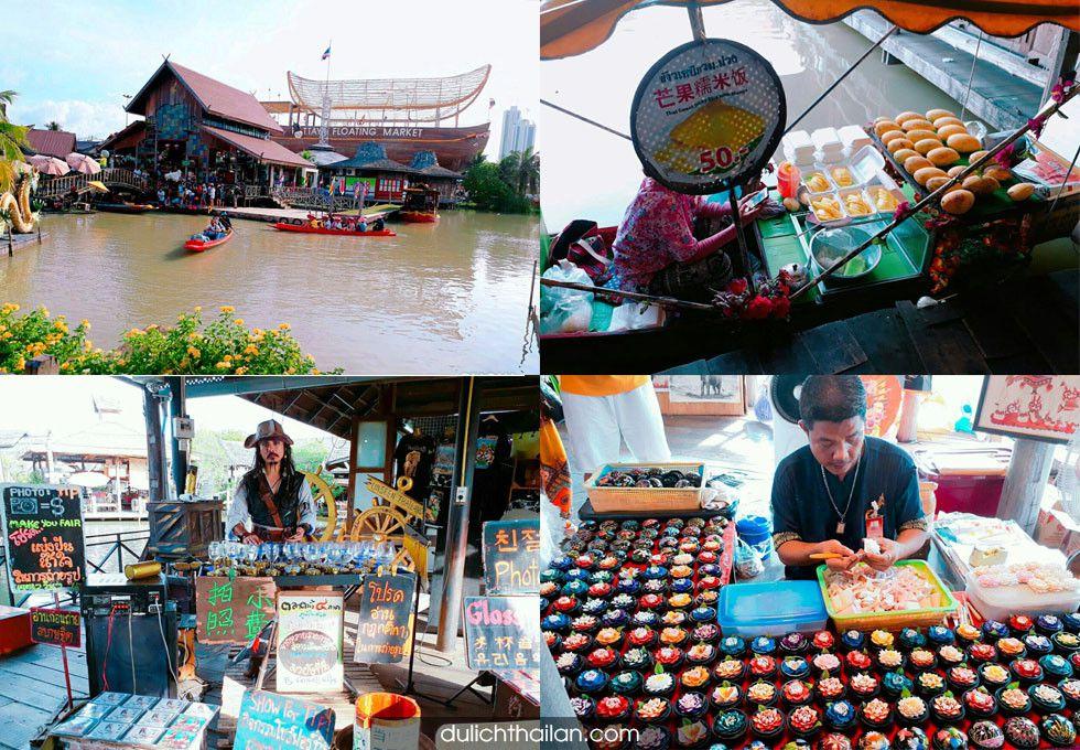 chợ nổi Pattaya Thái Lan