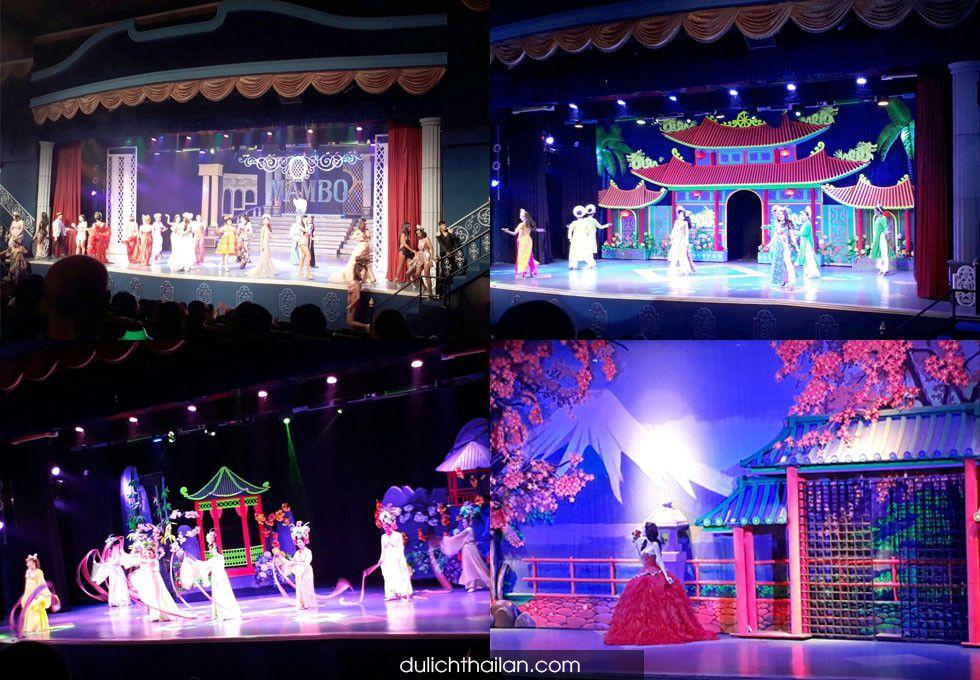 show biểu diễn nghệ thuật Mambo Bangkok
