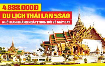 Du Lịch Thái Lan 5Sao Bangkok | Pattaya 4N3Đ