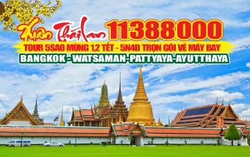 Thái Lan 5Sao Bangkok | Pattaya | Ayutthaya  5N4Đ (Nok AirLines)