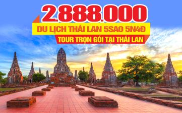 Du lịch THÁI LAN 5SAO 5N4Đ - Thắng cảnh Ayutthaya khởi hành hàng ngày trên toàn quốc