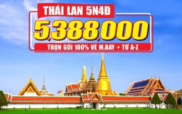 Du Lịch Thái Lan 5Sao 2tr888 Mua 2 tặng 1 Bangkok | Pattaya | Ayutthaya 5N4Đ (Thai Lion air)