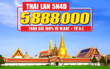 Du Lịch Thái Lan 5Sao 5tr888 Bangkok | Pattaya | Ayuthaya 5N4Đ
