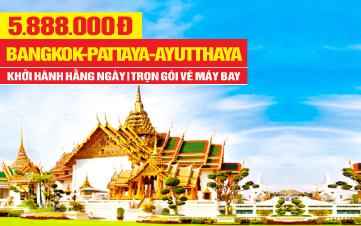 Tour Du Lịch Thái Lan 5Sao | Bangkok | Pattaya | Ayutthaya | 5N4Đ
