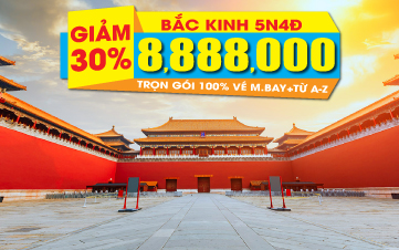 Du lịch Bắc Kinh 5N4Đ Khuyến mãi giá sốc duy nhất cho ngày khởi hành 12/11/2017