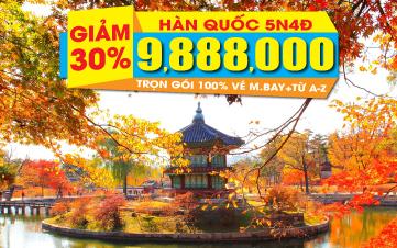 Hàn Quốc 5N4Đ Rẻ chưa từng có cho ngày khởi hành 15 & 22/11/2017
