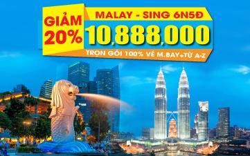 Singapore + Malaysia cao cấp 5* 6N5Đ Giảm ngay 2TR