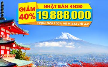 Nhật Bản Osaka - Kyoto - Kobe 4N3Đ giảm ngay 10TR