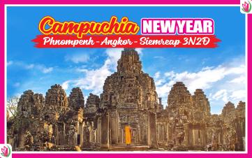 Tết Dương Lịch - Du lịch Campuchia 4Sao PhnomPenh | Siemreap | Angkor 3N2Đ